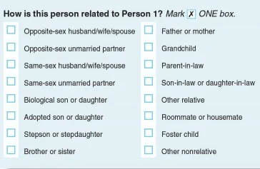 new relationship question census