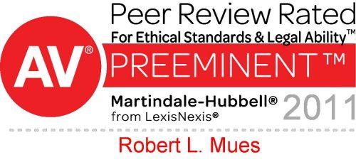 AV Preeminent Peer Review Rated 2011 award