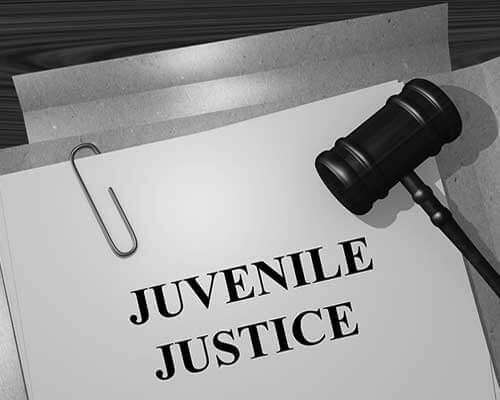 Juvenile Justice document and gavel