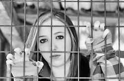 Dayton Ohio juvenile female behind bars