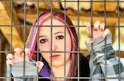 female juvenile in jail
