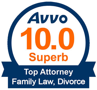 Avvo 10.0 Superb Top Attorney Family Law, Divorce Award